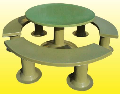Mesas ovales y bancos para jardin vicente pl sticos - Mesa jardin plastico ...