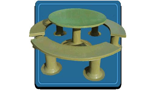 Mesas Ovales y Bancos para Jardin